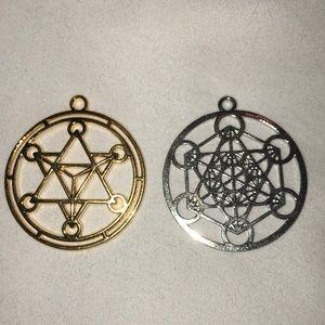 Metatrons cube Merkaba Star tetrahedron pendants